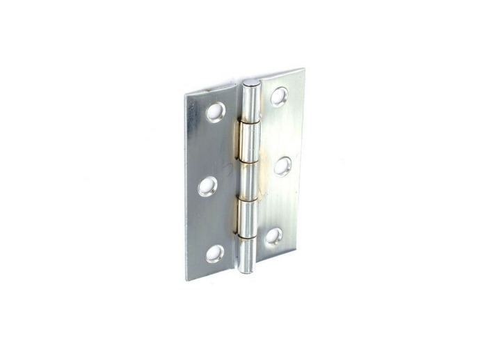 Securit S4308 Steel Butt Hinges Zinc Plated 75mm Pack Of 1 Pr - 1