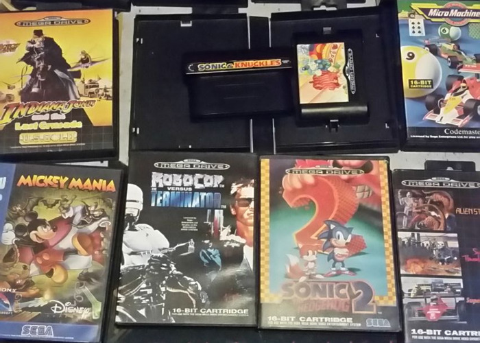 Sega megadrive II with choice of 3 games  - 1