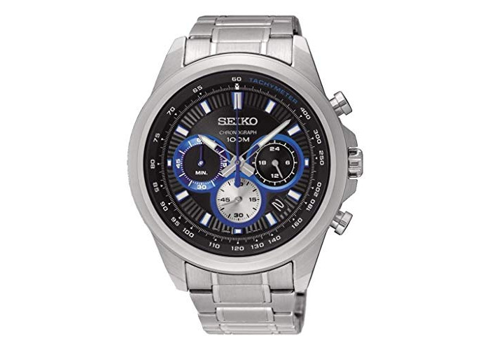 Seiko Mens Chronograph Quartz Watch with Stainless Steel Strap SSB243P1 - 1