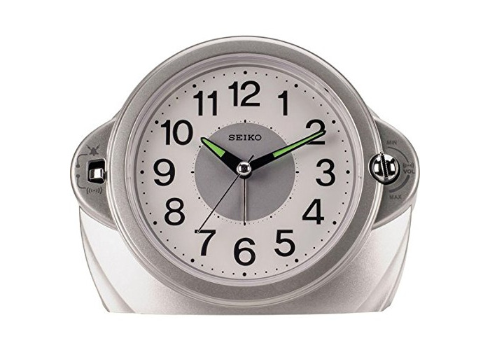 Seiko Sweep Second Hand and Volume Control Alarm Clock. - 1