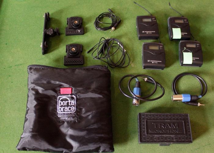 Senheiser radio mics and accessories x2 - 1