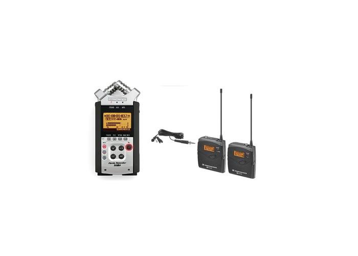 Sennheiser G3 body clip microphone kit + Zoom H4N - 1