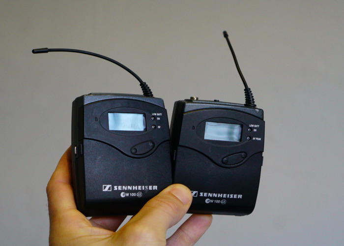Sennheiser G3 wireless lapel mic - 1