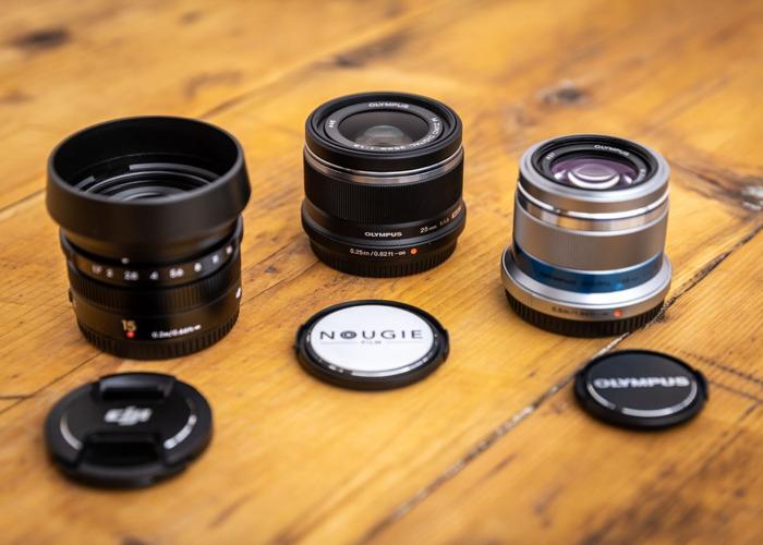 Set of 3x Olympus DJI MFT Lenses - 1