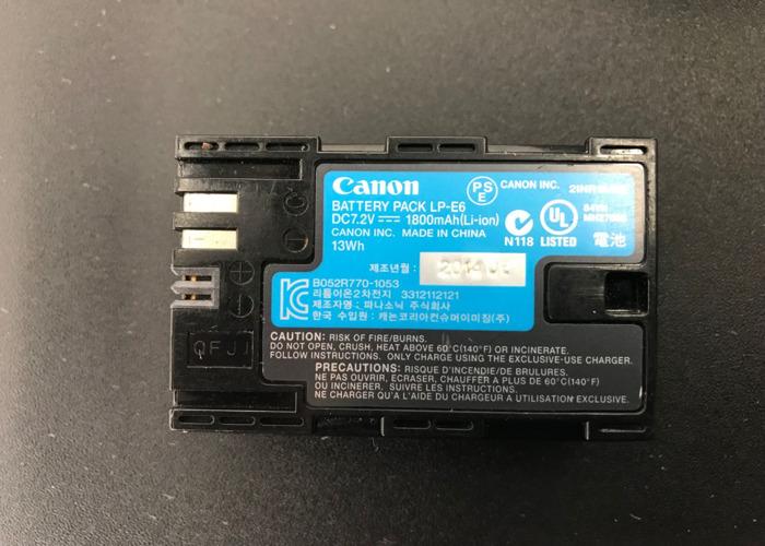 Set of 4 Canon LP-E6 Batteries + Charger - 2
