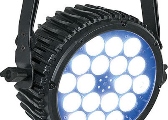 Set of 8 LED lights - Showtec Compact Par 18 MKII Black - 1
