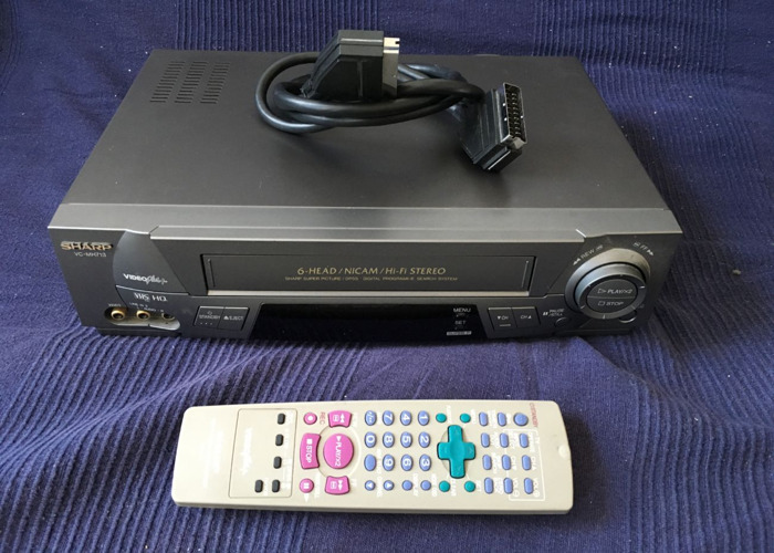 VHS Video Cassette Recorder VCR SHARP VC-MH713 - 1