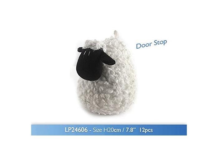 Sheep Shape Door Stop Stuffed Fabric Animal Door Stopper Wedge - 1