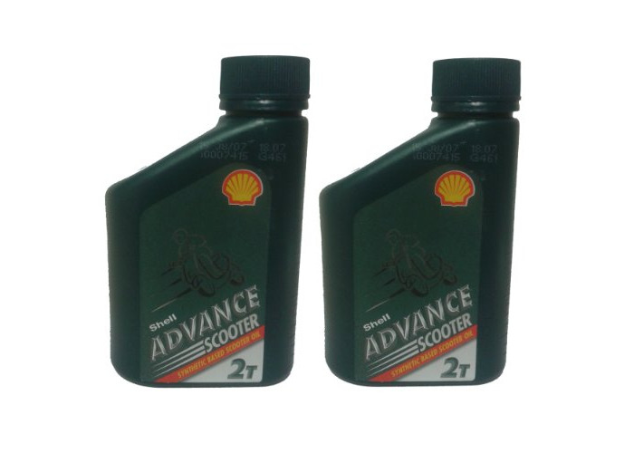 Shell Advance 2 Stroke Semi Synthetic Oil 500ml, Scooter Lawn Mowers Chainsaw (Box of 2) - 1