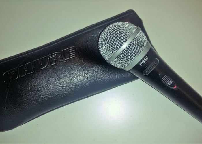 Shure PG58 Microphone + Cable - 1
