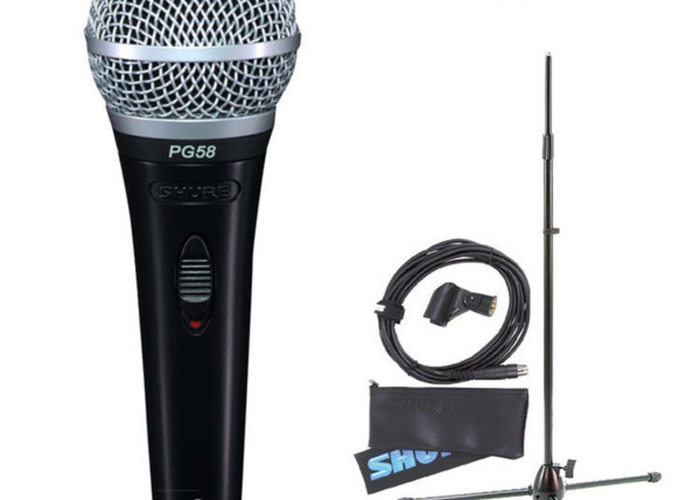 Shure PG58 Microphone + Cable - 2