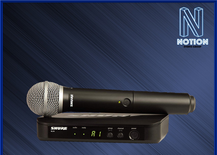 Shure PG58 Wireless Microphone and Radio Reciever  - 1