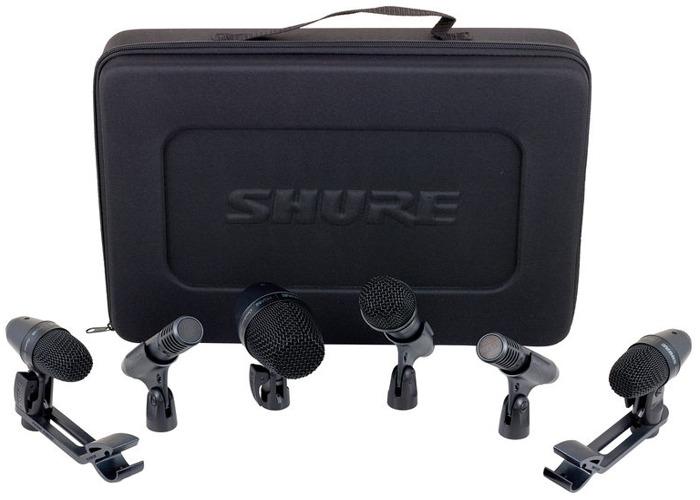 Drum Microphones, Shure PGA DRUMKIT6 6 Piece Microphone Kit - 1