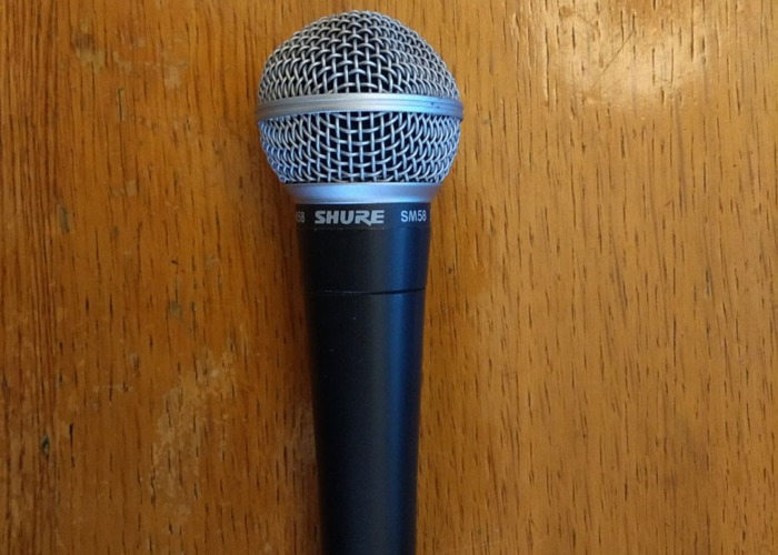 Shure SM58 microphone and cable - 1