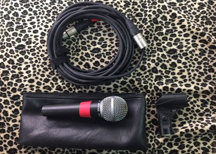 Shure SM58 vocal interview & instument  dynamic microphone  - 1