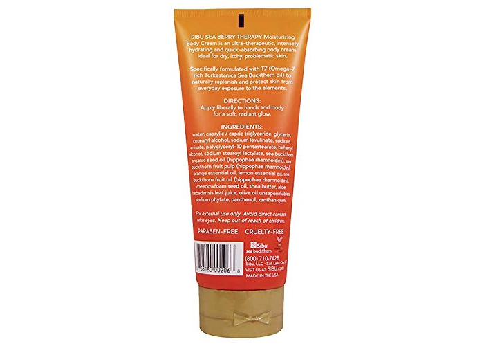Sibu Beauty Sea Buckthorn Moisturizing Body Cream, 6 oz - 2