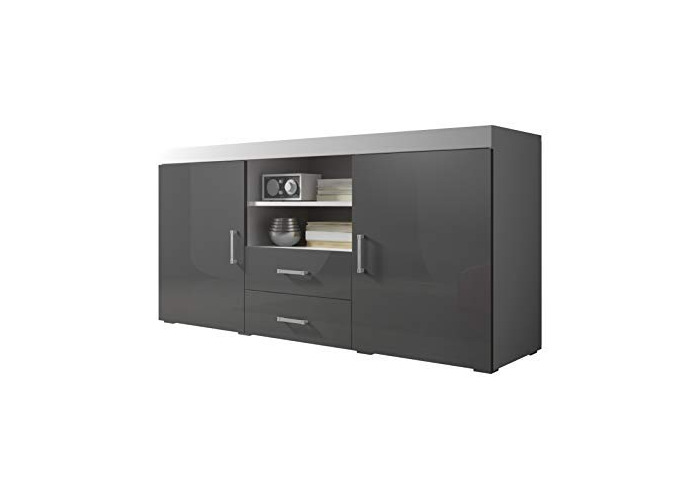 newest 2768f c0200 Buy Sideboard Cupboard Buffet Mambo 164cm 2 Doors 2 Drawers ...
