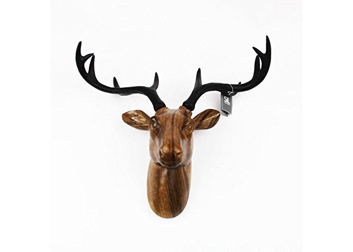 Sifcon Wooden Reindeer Head Wall Hanging - 1