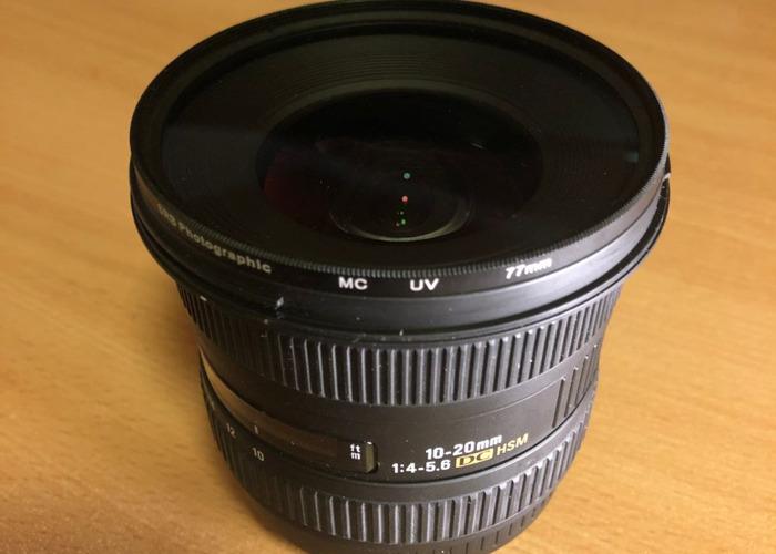 Sigma 10-20mm F4.5-5.6 Wide Angle Lens, EF Mount - 2