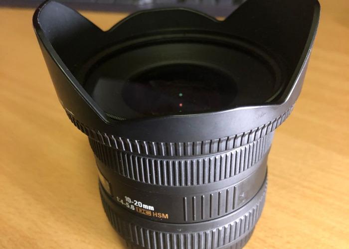 Sigma 10-20mm F4.5-5.6 Wide Angle Lens, EF Mount - 1