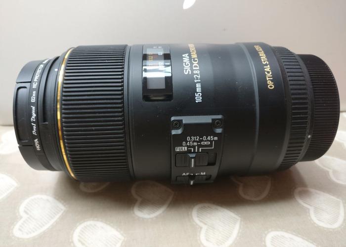 Sigma 105mm 1:2.8 DG Macro HSM Lens Canon - 1