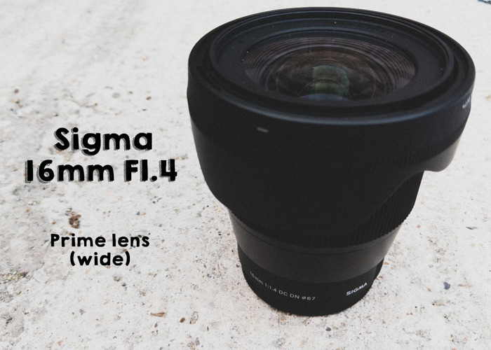 Sigma 16mm F1.4 DC HSM Contemporary (Sony Mount/E-Mount) - 1