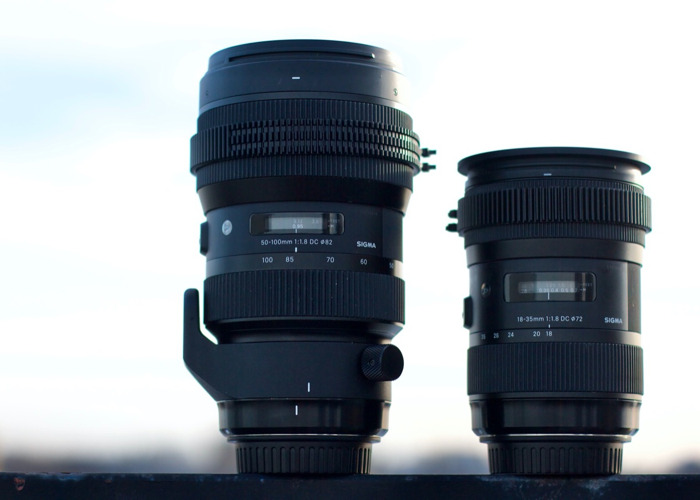 Sigma 18-35 and 50-100 f/1.8 EF Zoom Kit with ND Filter - 2