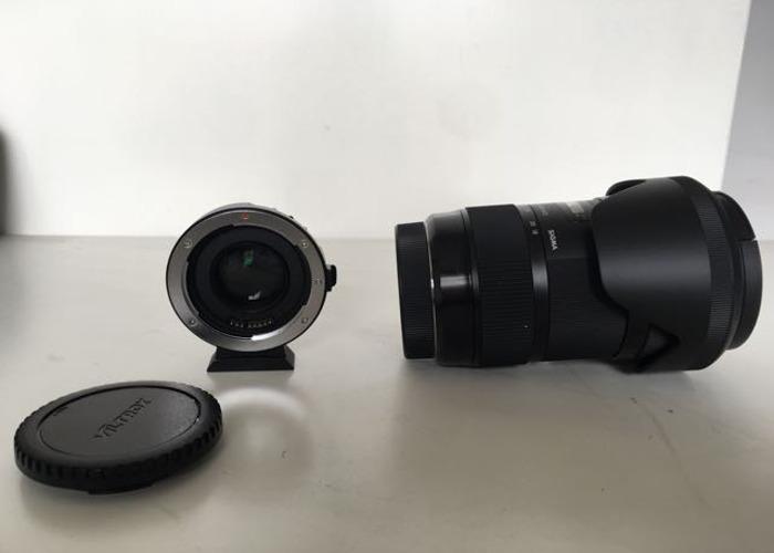 Sigma 18-35 f1.8 (Canon EF Mount) + Viltrox Speedbooster - 2