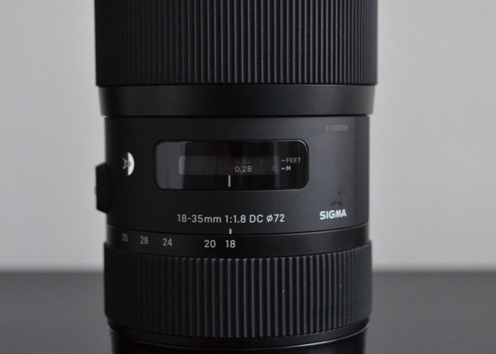 Sigma 18-35mm F1.8 DC HSM Lens - Canon EF Mount - 2