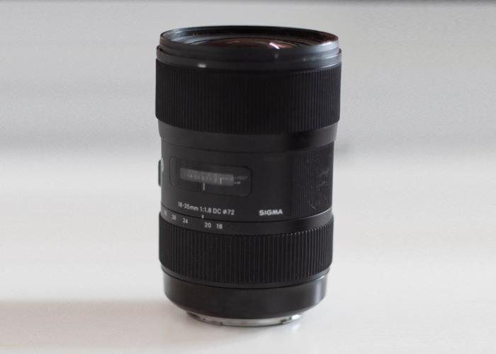 Sigma 18-35mm F1.8 DC HSM Lens - Mirrorless orCanon EF Mount - 1