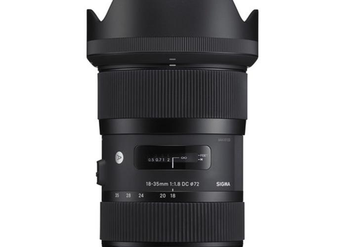 Sigma 18-35mm f/1.8 DC HSM Lens (Canon EF Mount) - 1