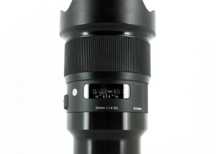 Sigma 20mm f1.4 DG HSM Sony E Mount Lens - 1