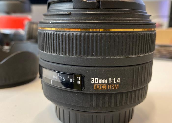 Sigma 30mm f1.4 - 1