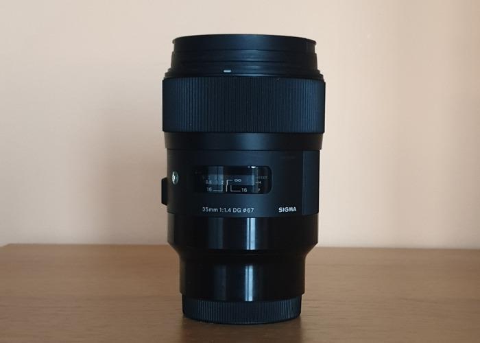 Sigma 35mm 1.4 art lens (e-mount) - 2