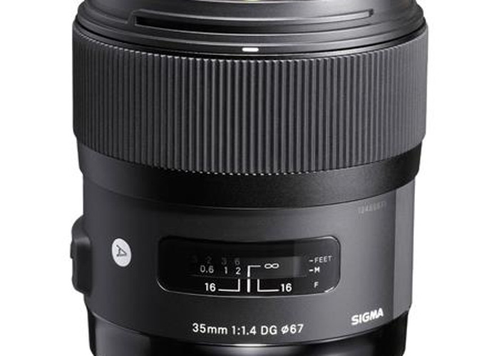 Sigma 35mm f/1.4 Lens for Canon DSLR's. Art Series Lens - 1