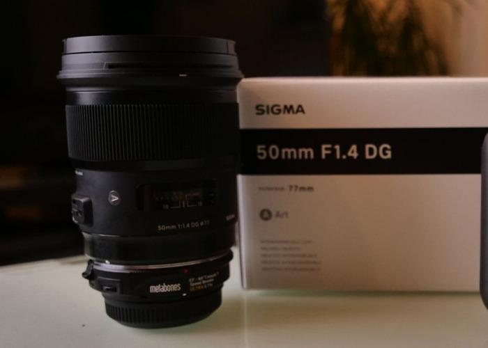 Sigma 50mm F1.4 DG HSM Art Lens - EF Mount - 2