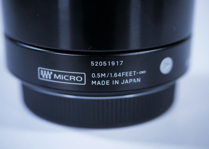 Sigma 60mm 2.8 Lens for Micro 4/3 Mount (GH5 & G7) - 2