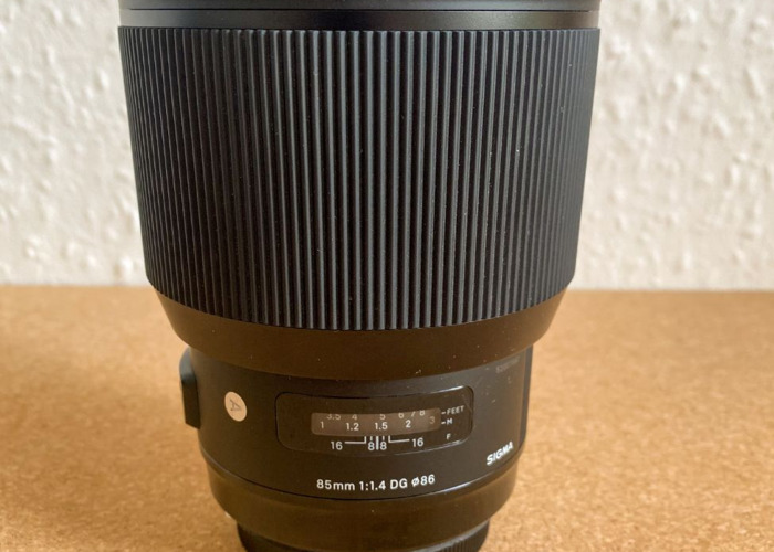 Sigma 85mm f1.4 Art Lens - 1
