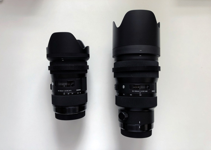 Sigma Art 18-35mm & 50-100mm F1.8 EF Lenses - 1