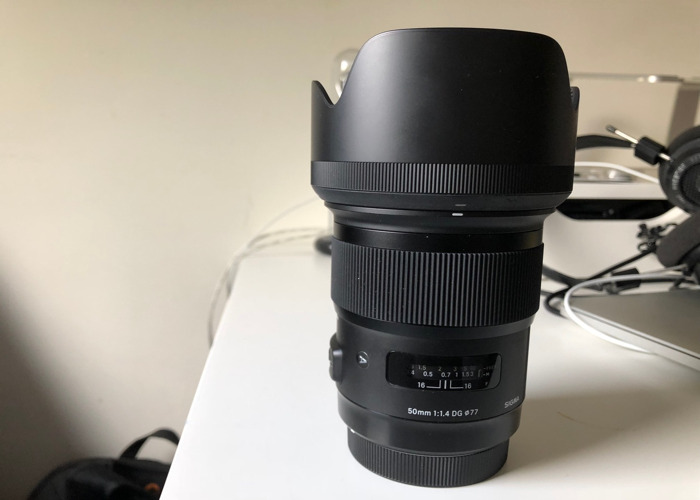 Sigma ART 50mm 1.4 Canon EF Fit Lens - 1