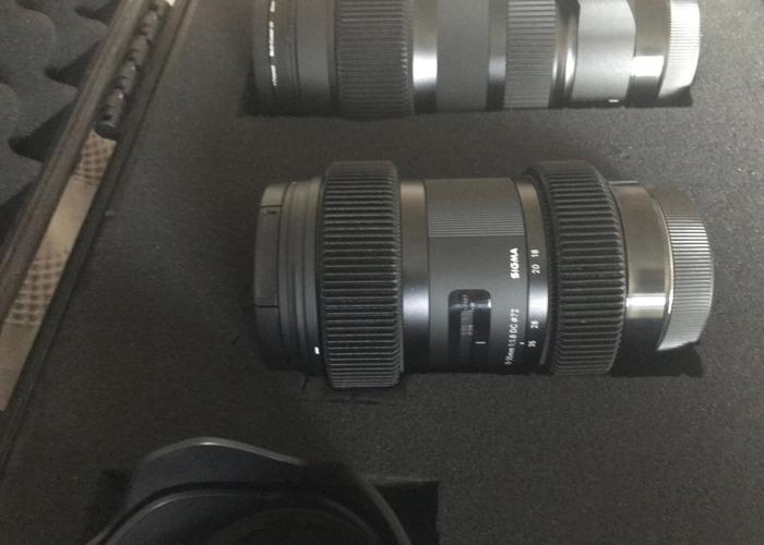 Sigma Art Lens Kit EF Mount - 18-35, 50-100 - 2