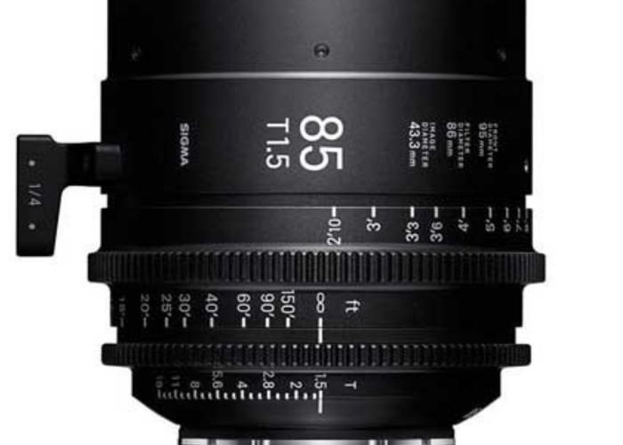 Sigma Cine PL 18-35mm T2.0, Sigma 50mm T1.5, Sigma 85mm T1.5 - 2