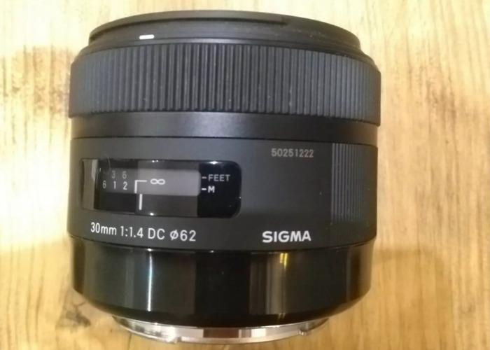 Sigma DC 30mm F/1.4 HSM DC Lens EF for Canon  Art Prime Lens - 1