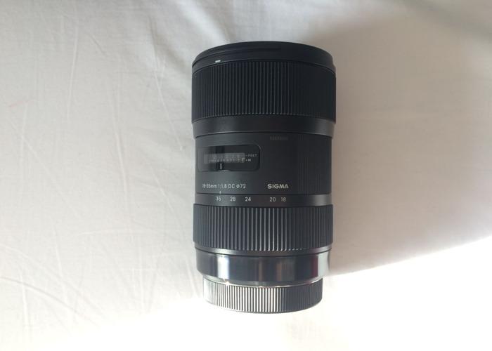 Sigma Lens 18-35mm 1.8 - 1