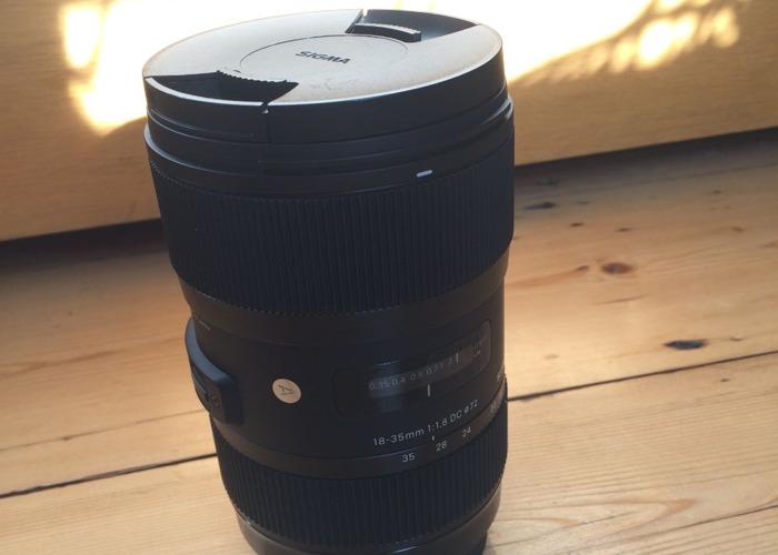 Sigma Lens 18-35mm 1.8 - 2