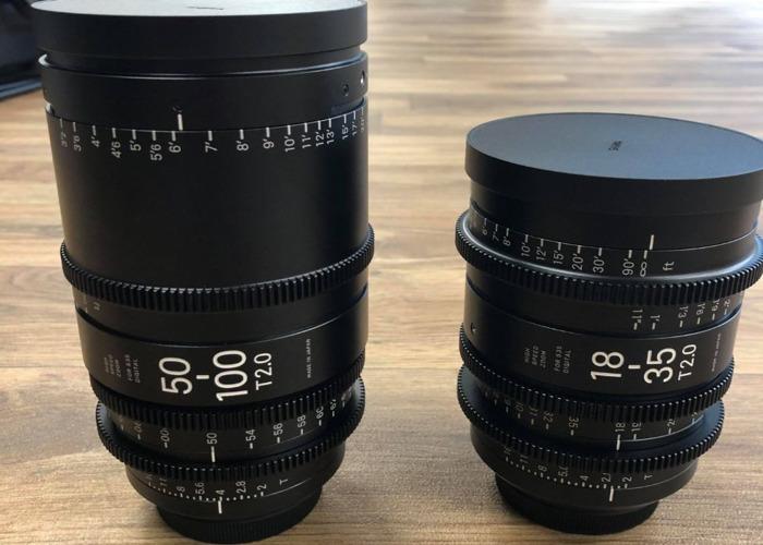 Sigma Zoom Cine Lens Set EF Mount T2.0(18-35mm & 50-100mm) - 2