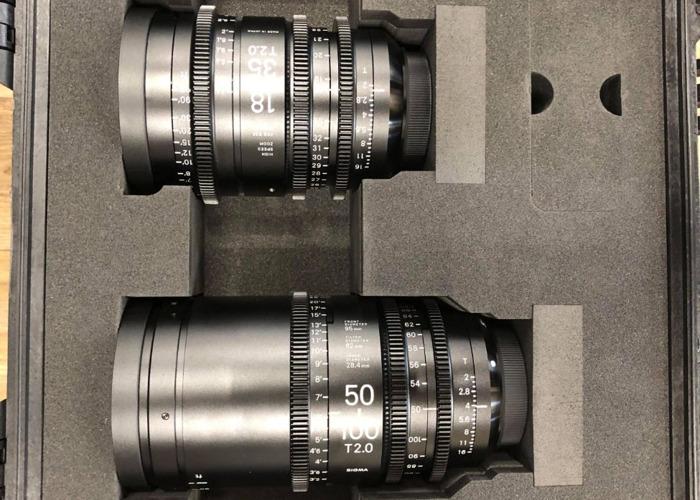Sigma Zoom Cine Lens Set EF Mount T2.0(18-35mm & 50-100mm) - 1