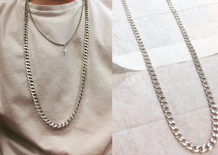Silver cuban link chain/ jewellry - 2