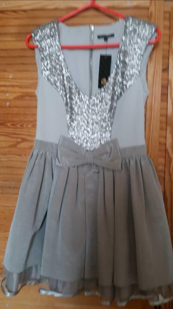 Silver prom dress  - 1