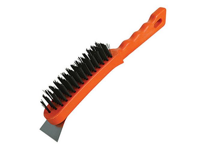 Silverline 245007 Steel Wire Brush 5 Row / Scraper - 1